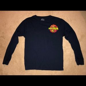 Long Sleeve Navy Space Jam Tee